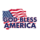 God Bless America Flag Decal