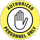 Authorized Personnel Only Floor Graphic - 8 Inch