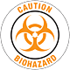 Caution Biohazard Floor Graphic - 8 Inch