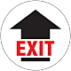 Exit with Arrow Floor Graphic - 8 Inches