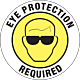 Eye Protection Required Floor Graphic - 8 Inch