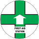 First Aid Station Floor Graphic - 8 Inch