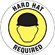 Hard hat Required Floor Graphic - 8 Inch