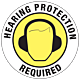 Hearing Protection Required Floor Graphic - 17 Inch