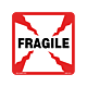 Fragile Labels - 4 Inch x 4 Inch