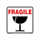 Fragile Labels - with Illustration - 4 inch x 4 Inch,