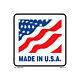 Made in the U.S.A Labels - 4 Inch x 4 Inch