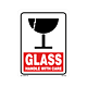 Glass Handle with Care Labels - 5.25 Inch x 4 Inch