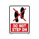 Do Not Step On Labels - 5.25 Inch x 4 Inch