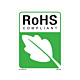RoHS Compliant Labels with Leaf Mark - 5.25 Inch x 4 inch