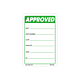 Approved Labels - 3 Inch x 2 Inch
