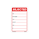 Rejected Labels - 3 Inch x 2 Inch