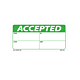 Green Accepted Labels - 2 Inch x 4 Inch