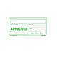 Approved Labels - 2 Inch x 4 Inch