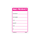 R&D Product Labels - 3 Inch x 2 Inch