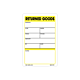 Returned Goods Labels - 3 Inch x 2 Inch