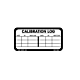 Calibration Log Labels - 1.5 Inch x 3 Inch