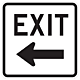 18 Inch Exit With Arrow Aluminum Reflective Sign