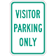 Visitor Parking Only, 18 Inch x 12 Inch