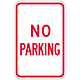 No Parking Signs, 18 Inch x 12 Inch