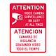 Attention Video Surveillance Sign with Spanish Translation