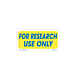 For Research Use Only Labels - 1 inch x 2 Inch