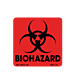Biohazard Labels - with Symbol - 2 Inch x 2 Inch