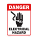 Danger Electrical Hazard Vinyl Decal