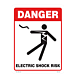Danger Electric Shock Risk Vinyl Decal