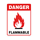 Danger Flammable Vinyl Decal