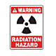 Radiation Hazard Vinyl Decal
