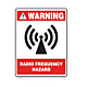 Radio Frequency Hazard Vinyl Decal