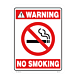 No Smoking Warning Vinyl Decal