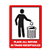 Place All Refuse in Trash Receptacles Vinyl Decal