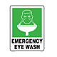 Emergency Eye Wash Vinyl Decal