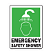 Emergency Safety Shower Vinyl Decal
