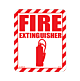 Fire Extinguisher Styrene Sign