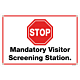 Mandatory Visitor Screening Station Banner
