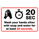 Wash Your Hands for 20 Seconds Banner