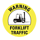 Fork Lift Traffic Warning Floor Graphic - 17 Inch