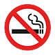 No Smoking Floor Graphic - 17 Inch