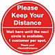 Pack of Please Keep Your Distance Floor Graphics