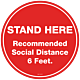 Pack of Recommended Social Distance Floor Graphics