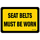 Seat Belts Must Be Worn Decal