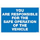 You Are Responsible Decal