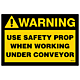 Warning Use Safety Prop Decal