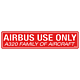 Airbus Use Only Decal