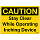 Caution Stay Clear Decal