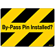 By-Pass Pin Installed Decal