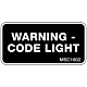 Warning - Code Light Decal